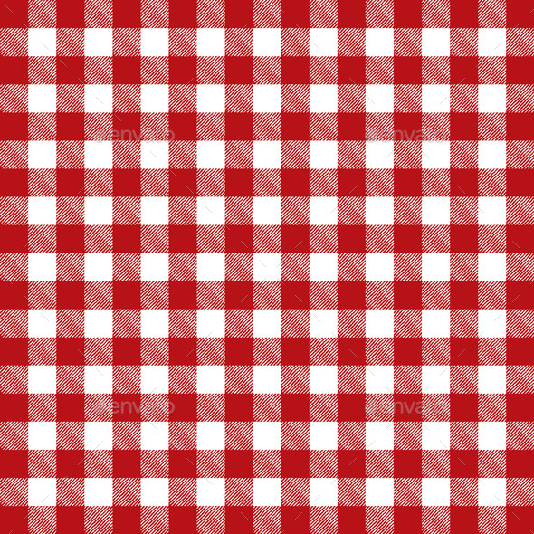 GraphicRiver Vector Red Checkered Pattern Tablecloth 10368094