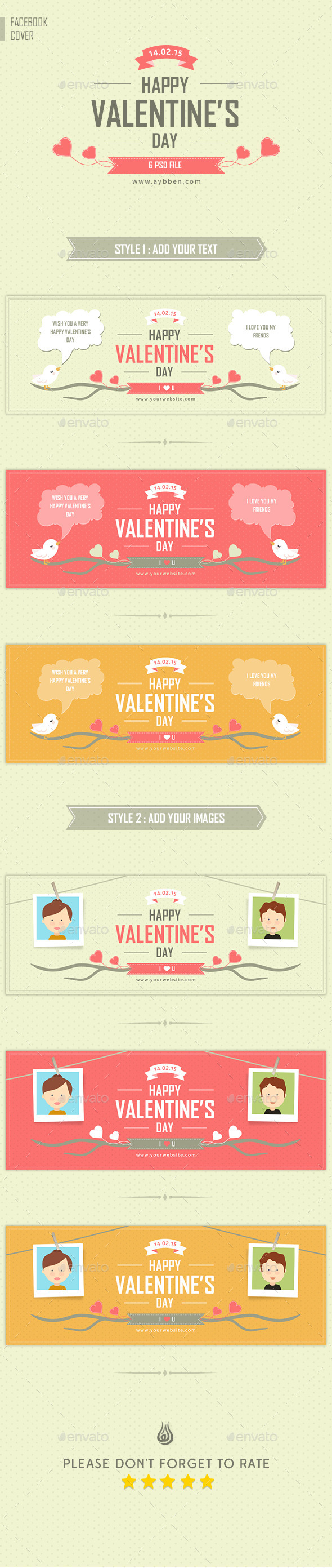 GraphicRiver Valentine s Day Timeline Cover 10368109