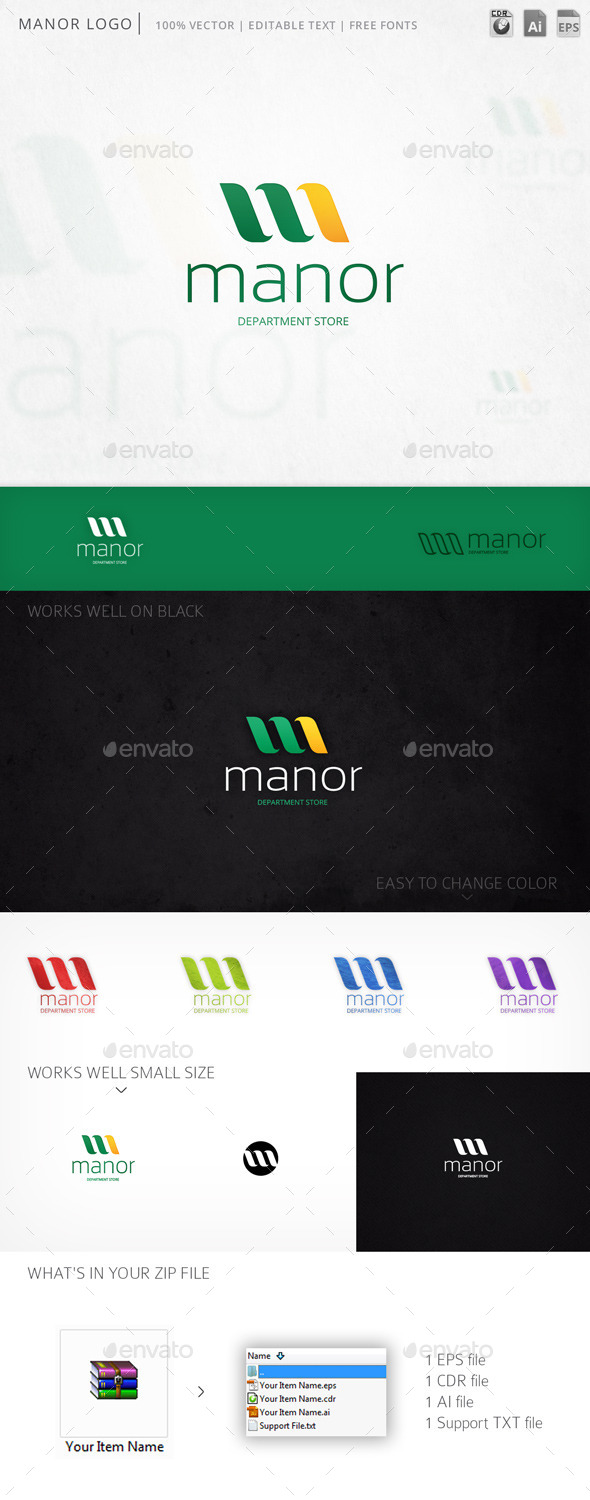 GraphicRiver Manor Logo 10368242