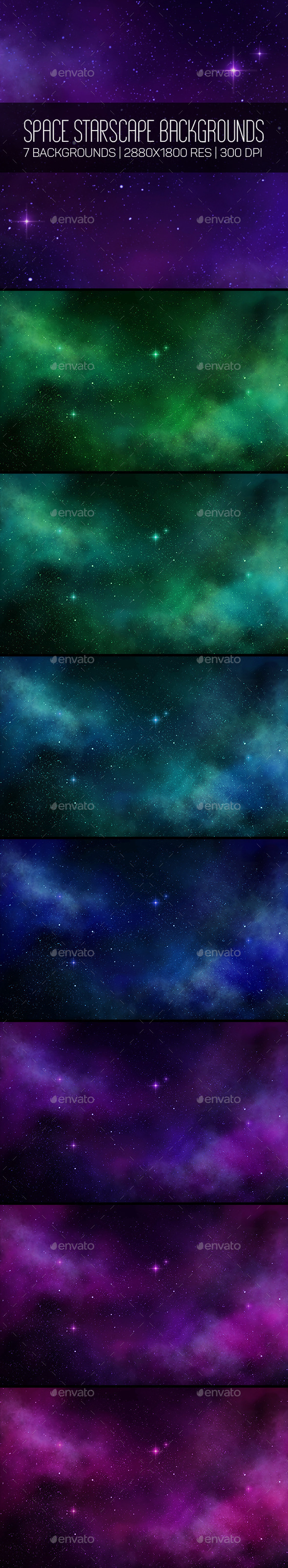 GraphicRiver Space Starscape Backgroungs 10368491