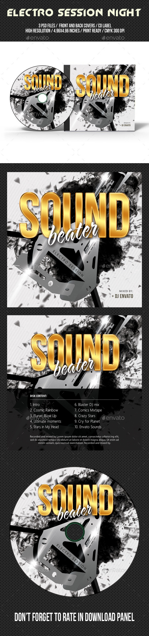 GraphicRiver Electro Session Night Party CD Cover V03 10368497