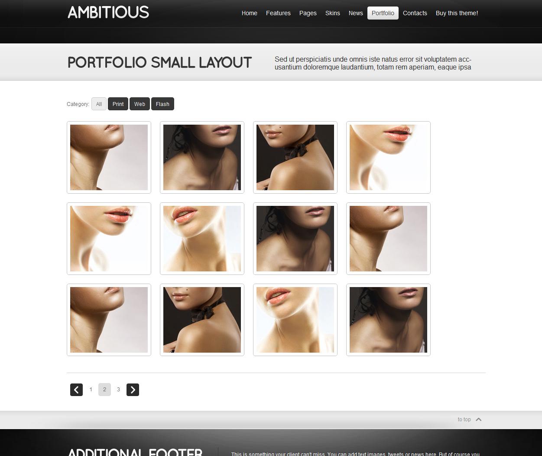 Ambitious - Business & Portfolio HTML CSS Theme