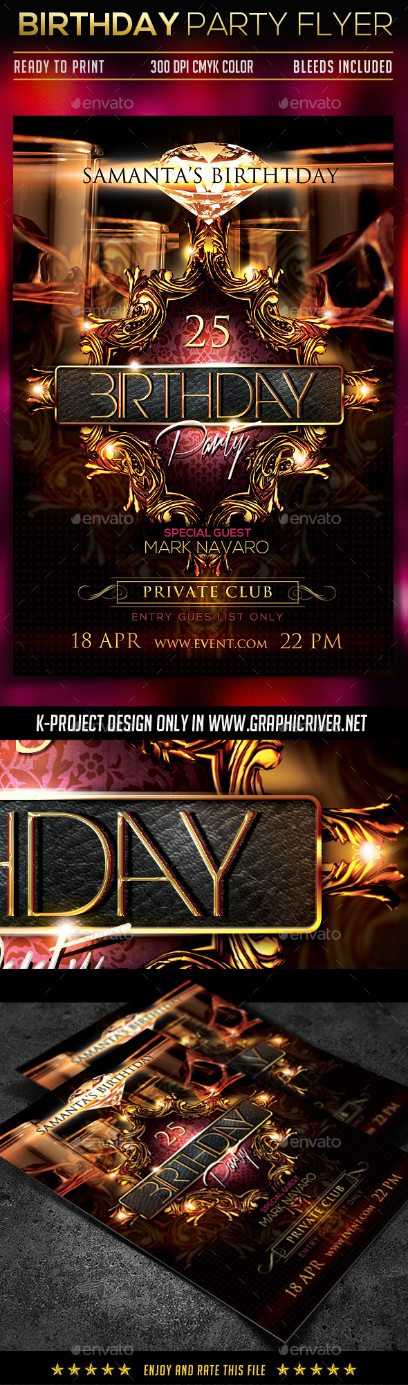 GraphicRiver Birthday Party Flyer 10368721