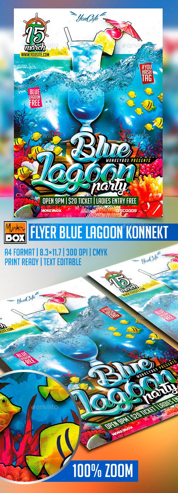 GraphicRiver Flyer Blue Lagoon Konnekt 10368959