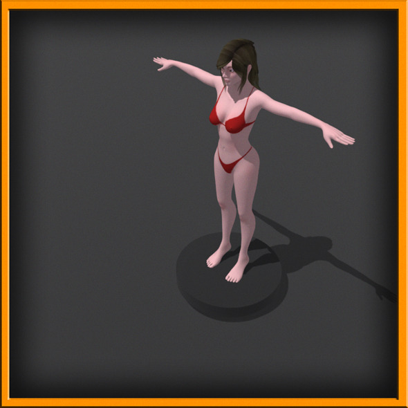 Realistic female Body [No Rig] - 3DOcean Item for Sale