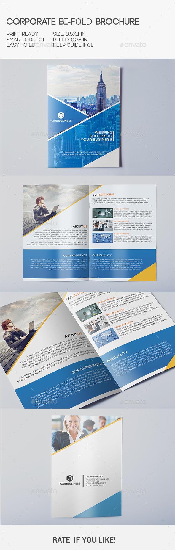 GraphicRiver Corporate Bi-Fold Brochure 10369145