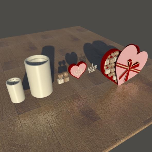 valentine set - 3DOcean Item for Sale