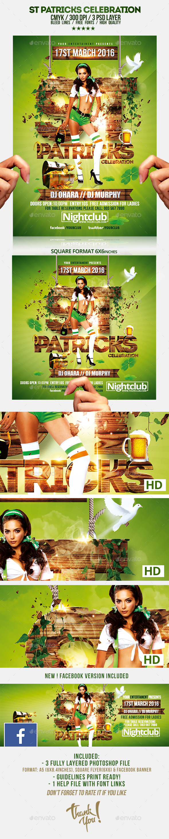 GraphicRiver St Patricks Day Celebration Flyer Template 10369424