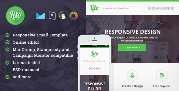ThemeForest Lito Responsive Email and Newsletter Template 10318523