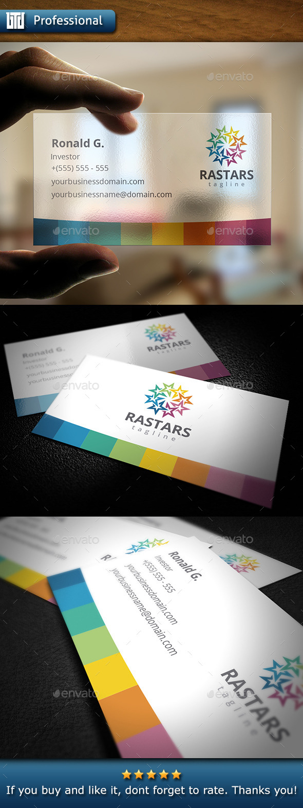 GraphicRiver Stars Business Card 10369434