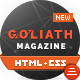 GOLIATH - News & Reviews Magazine Template - ThemeForest Item for Sale
