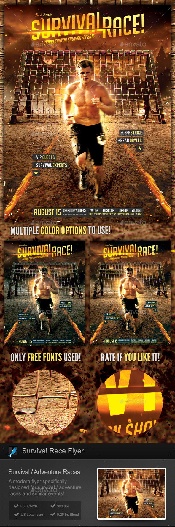 GraphicRiver Survival Races Adventure Flyer Template 10369504
