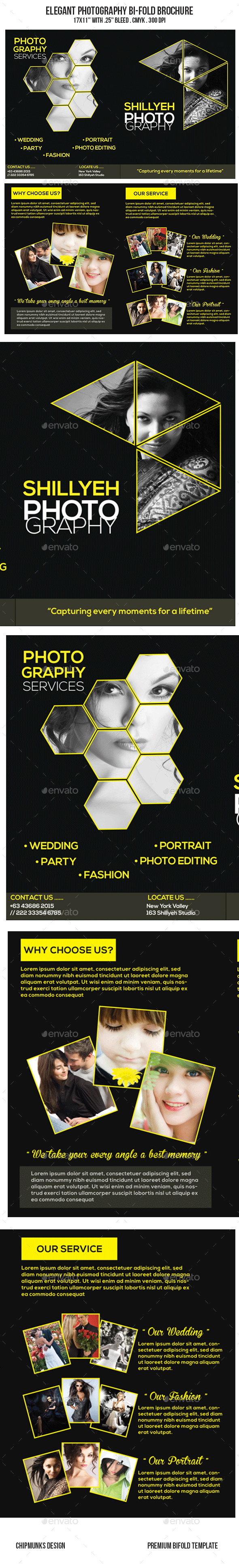 GraphicRiver Elegant Photography Bi-Fold Brochure 10369770