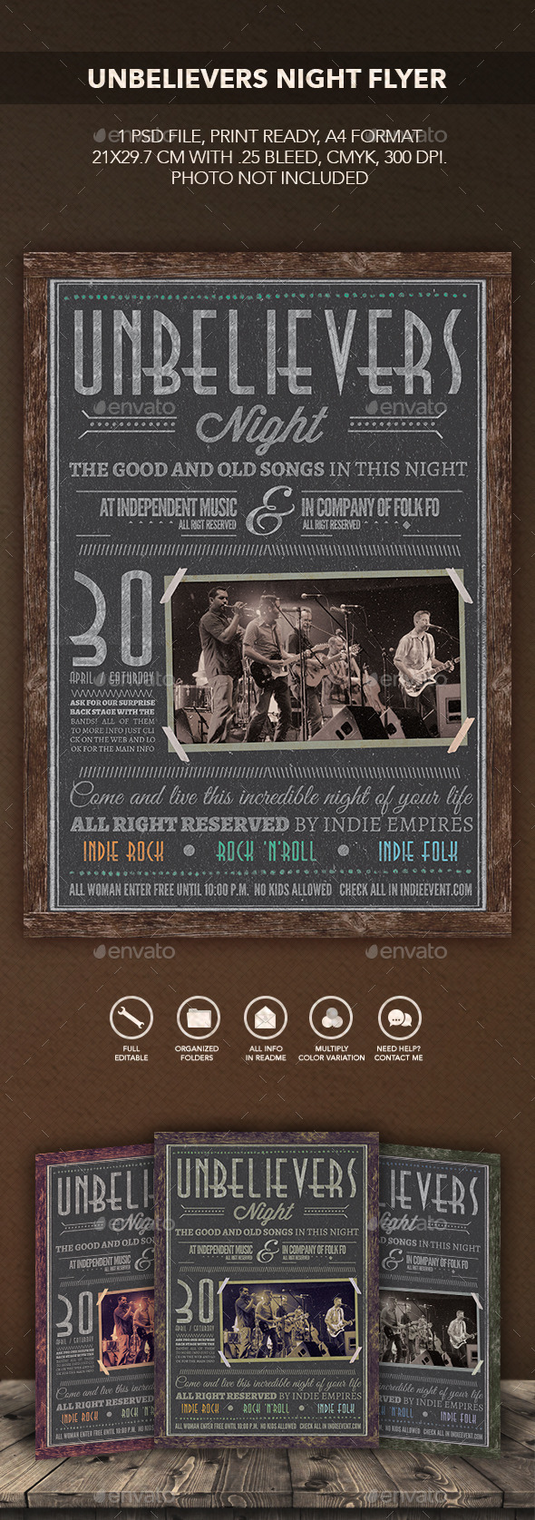 GraphicRiver Unbelievers Night Poster Flyer 10369817