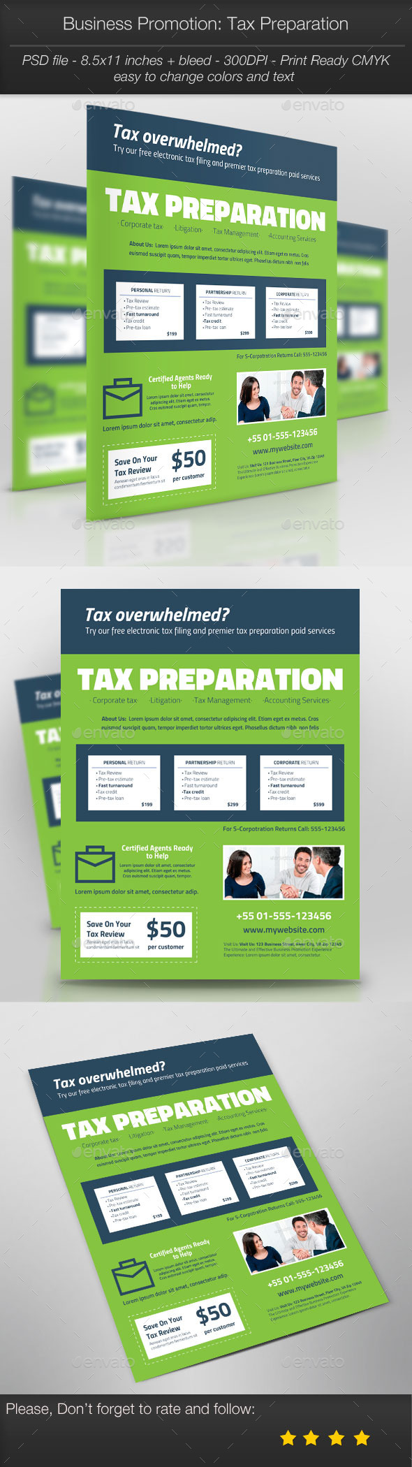 GraphicRiver Business Promotion Tax Preparation 10369820