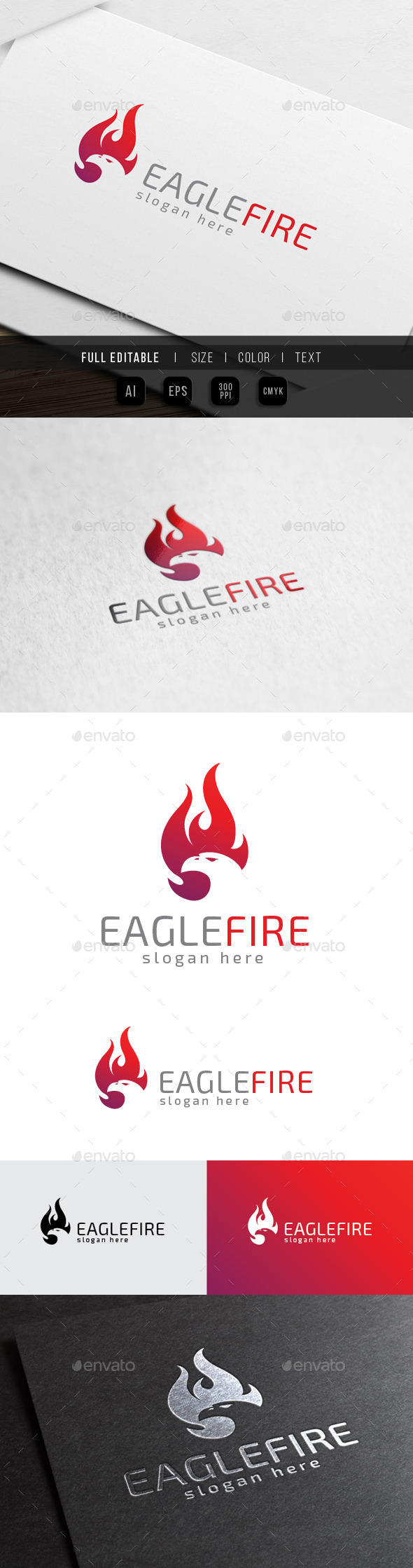 GraphicRiver Eagle Fire Bird Phoenix 10369855