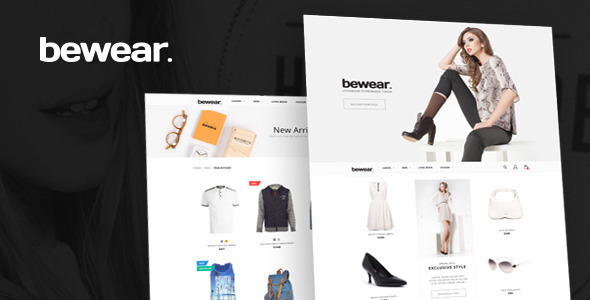 ThemeForest Bewear Lookbook Style eCommerce PSD Template 10369856