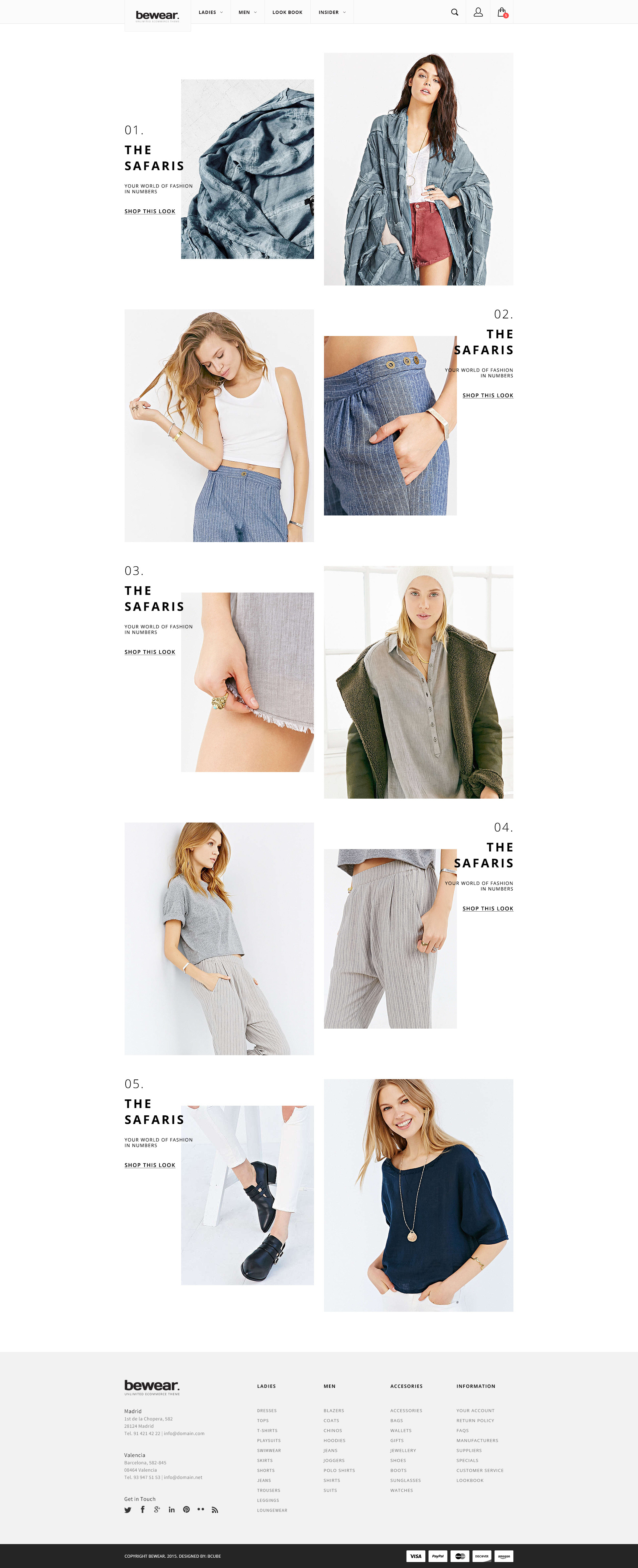 Bewear Lookbook Style eCommerce PSD Template by bcube – Contact Book Template