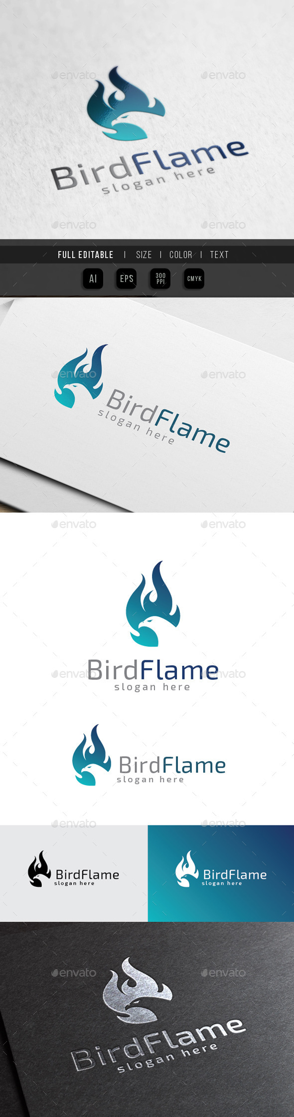 GraphicRiver Phoenix Flame Bird Burn Fire 10369861
