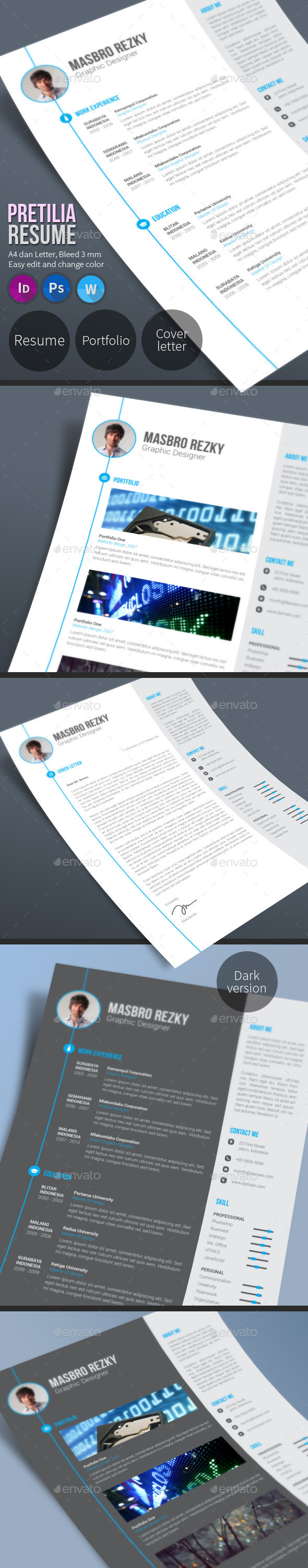 GraphicRiver Pretilia Resume 10369865