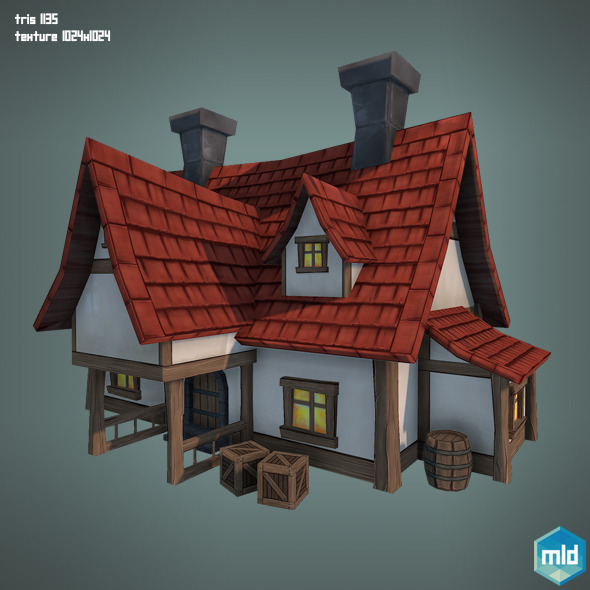 Low Poly Big House By Mladenca 3docean