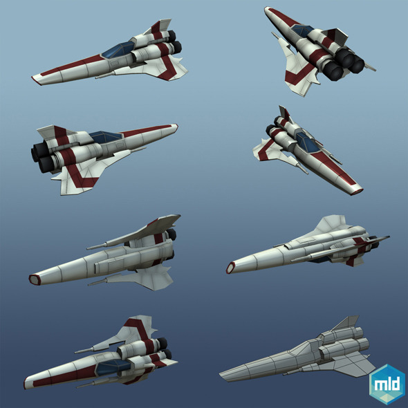 Low Poly Viper MK II - 3DOcean Item for Sale