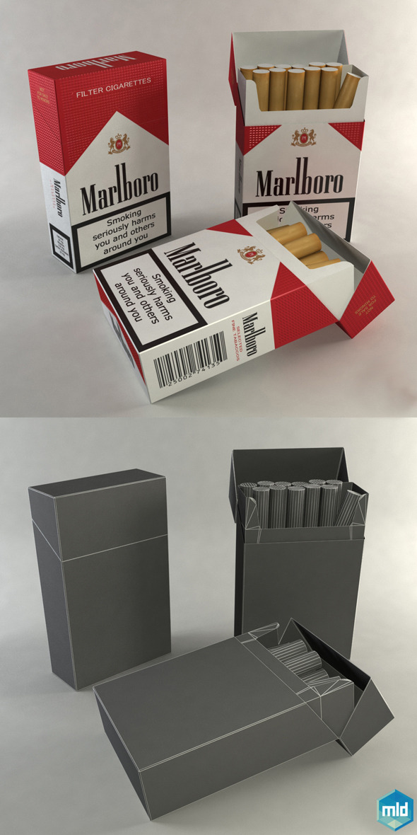 Box Cigarettes - 3DOcean Item for Sale