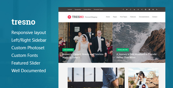 ThemeForest Tresno Personal Blog Tumblr Theme 10370524