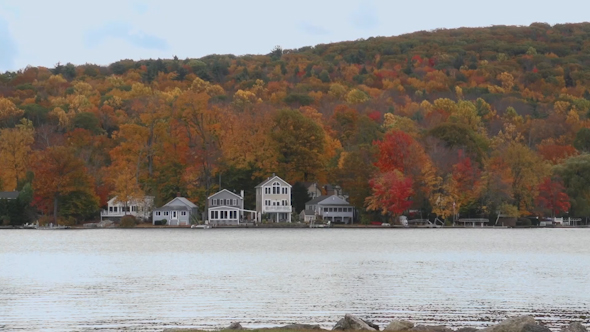 Homes Along Lake With Beautiful Foliage 7 Of 7