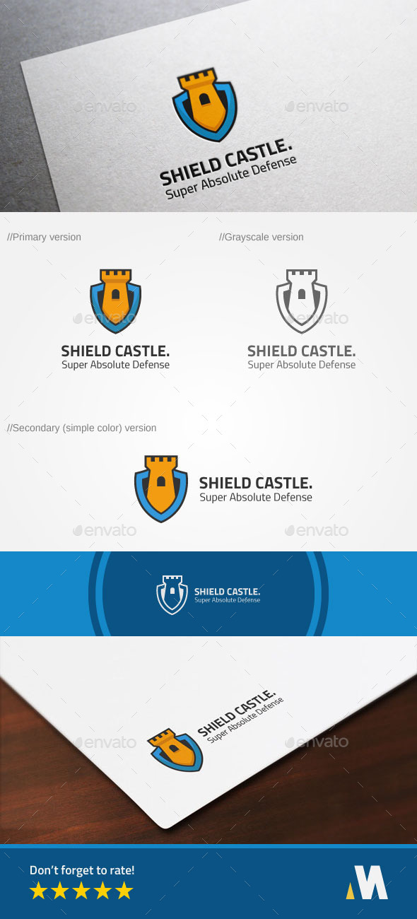 GraphicRiver Shield Castle or Secure Fort Logo 10371610