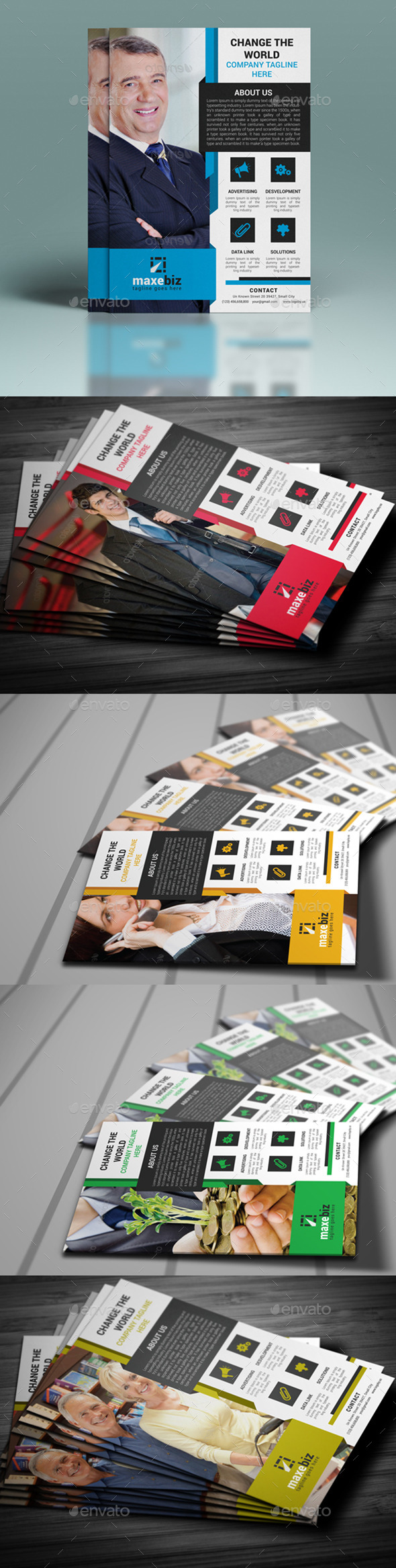 GraphicRiver Corporate Business Flyer Template 10320611