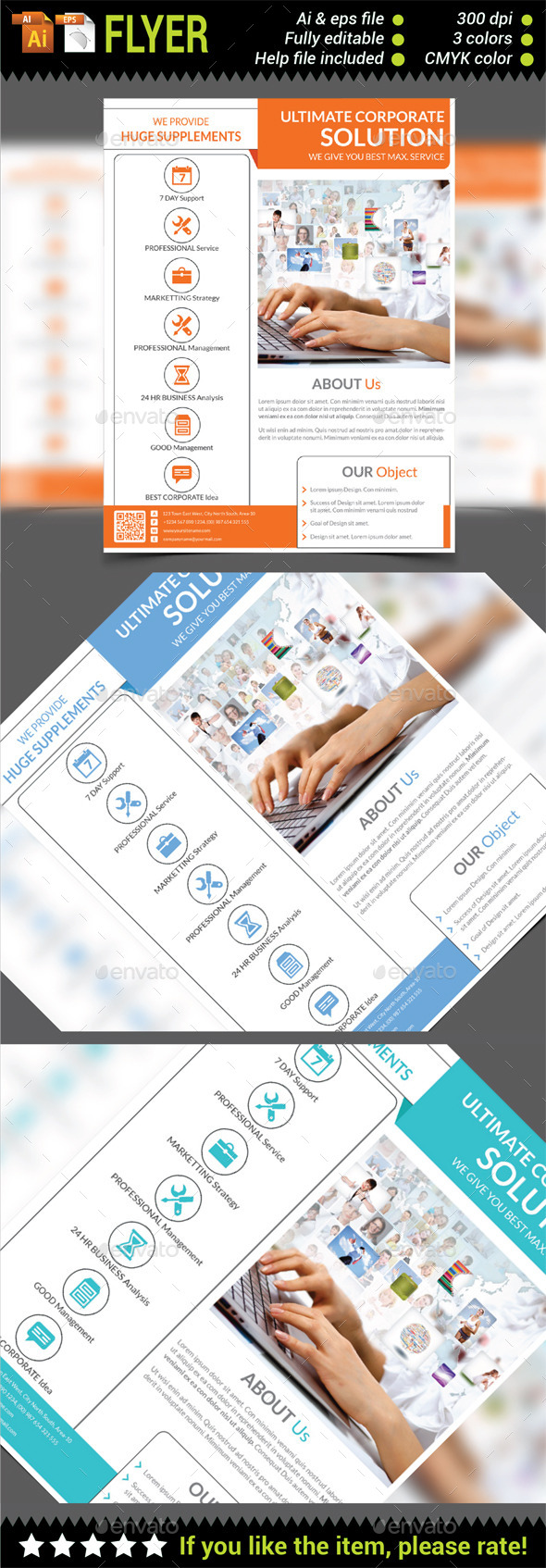 GraphicRiver Multipurpose Corporate Flyer Template 10371802