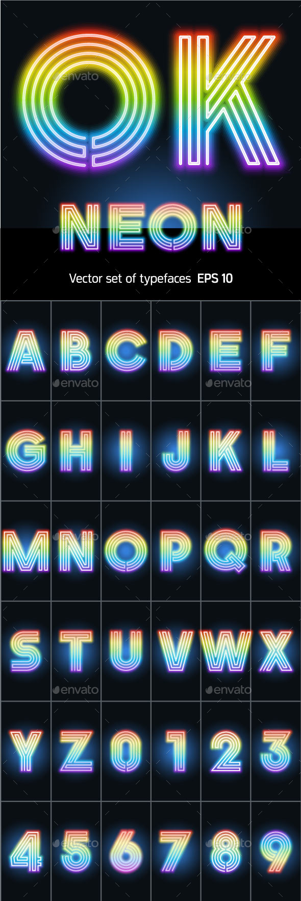 GraphicRiver Alphabet of Neon Tubes 10371928