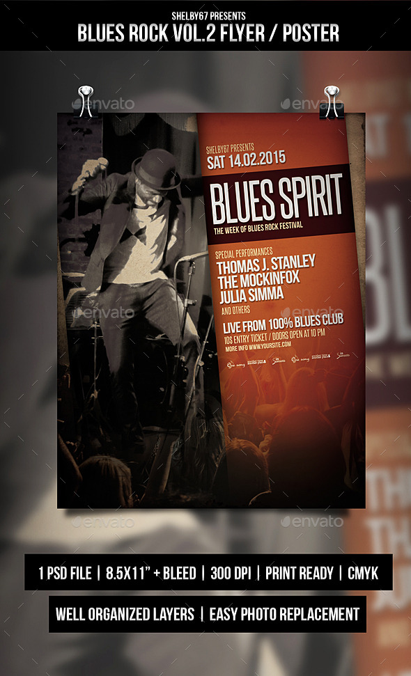 GraphicRiver Blues Rock Flyer Poster Vol.2 10371950