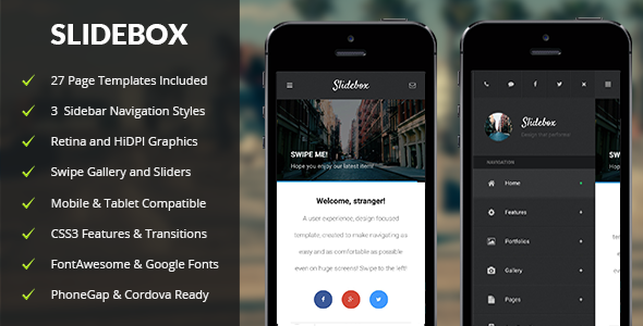 Slidebox Mobile & Tablet Responsive Template