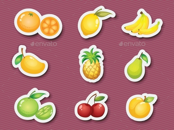 GraphicRiver Sticker Series of Fruits 10371977