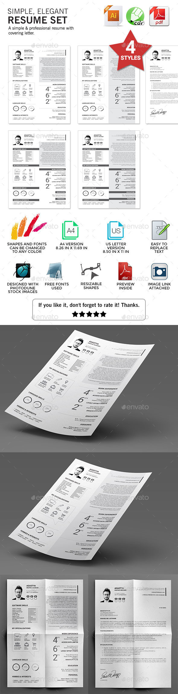 GraphicRiver Simple Resume 10298340