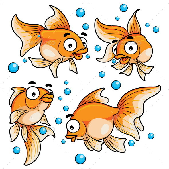 GraphicRiver Goldfish Cartoon 10371987