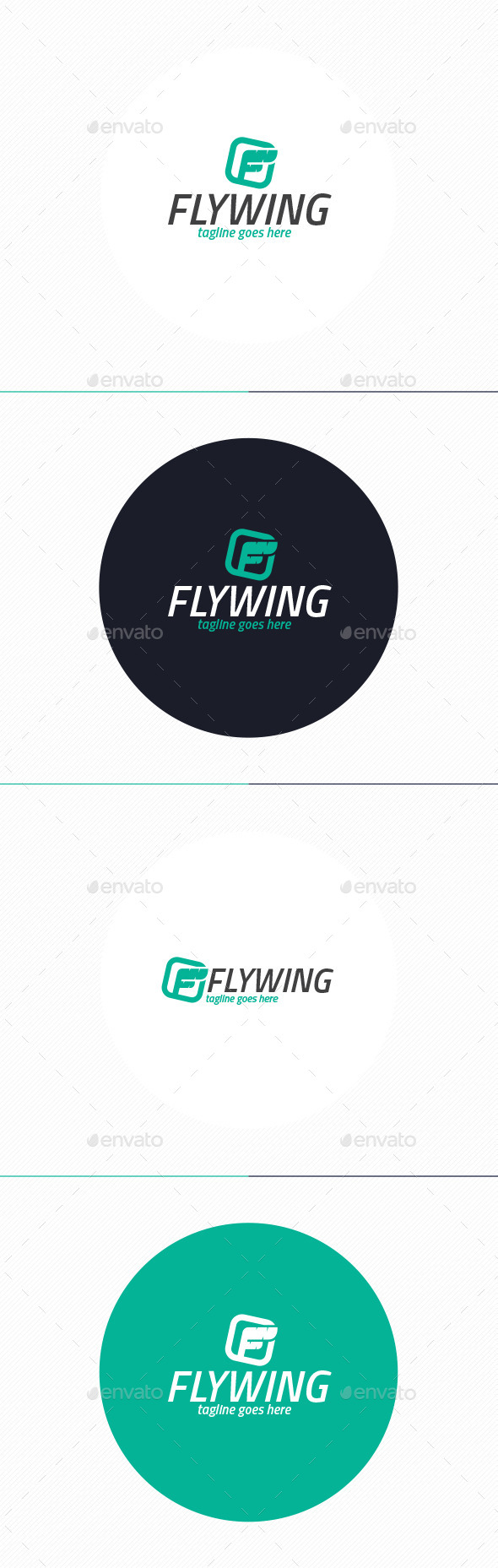 GraphicRiver Fly Wing Logo Letter F 10372235