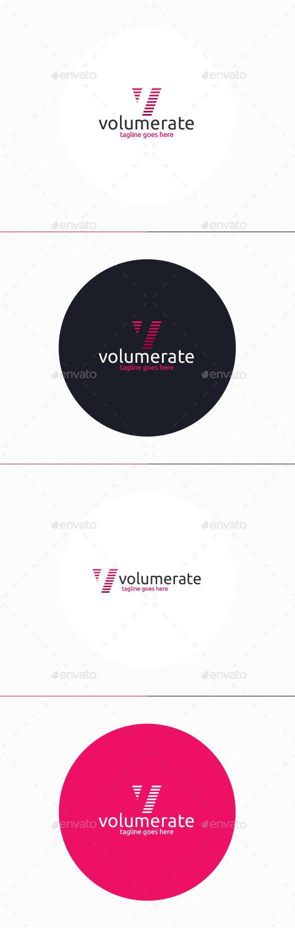 GraphicRiver Volume Rate Logo Letter V 10372391