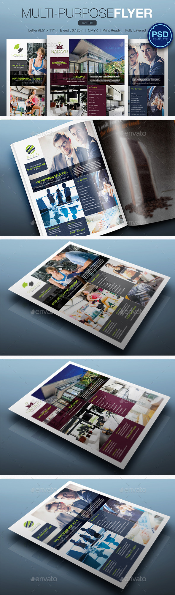 GraphicRiver Multipurpose Flyer Vol.06 10372406