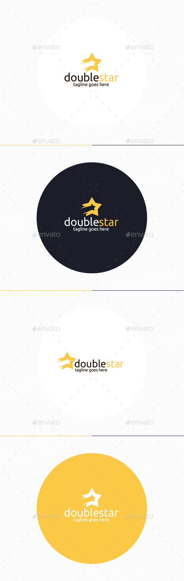 GraphicRiver Double Star Logo 10372414