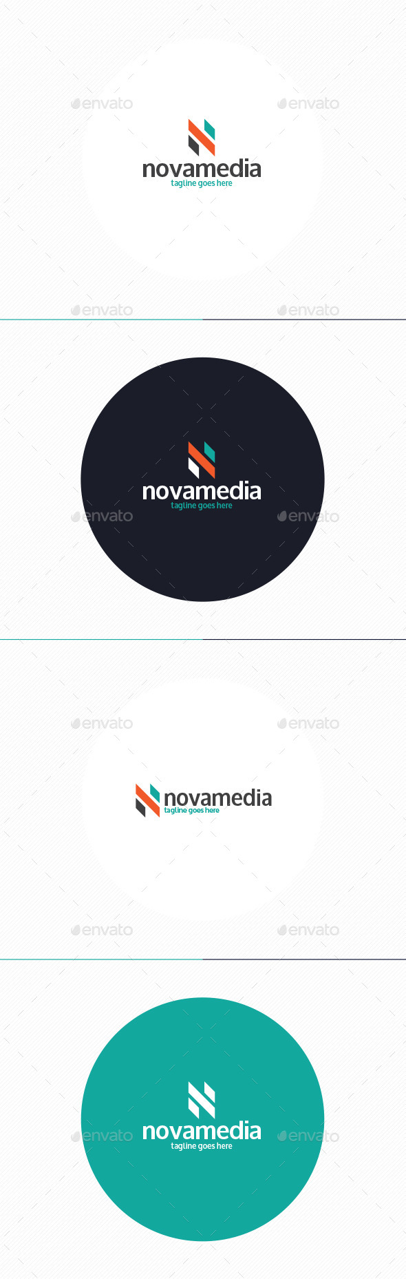 GraphicRiver Nova Media Logo Letter N 10372560