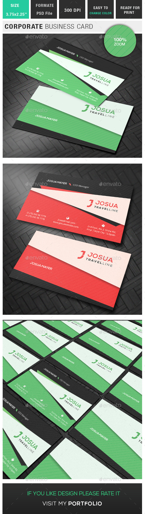 GraphicRiver Corporate Business Card 10372580