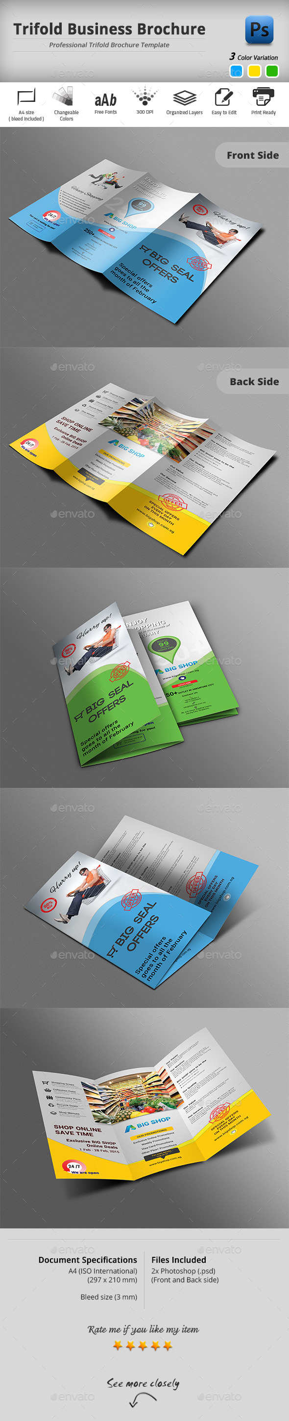 GraphicRiver Trifold Brochure 10372593