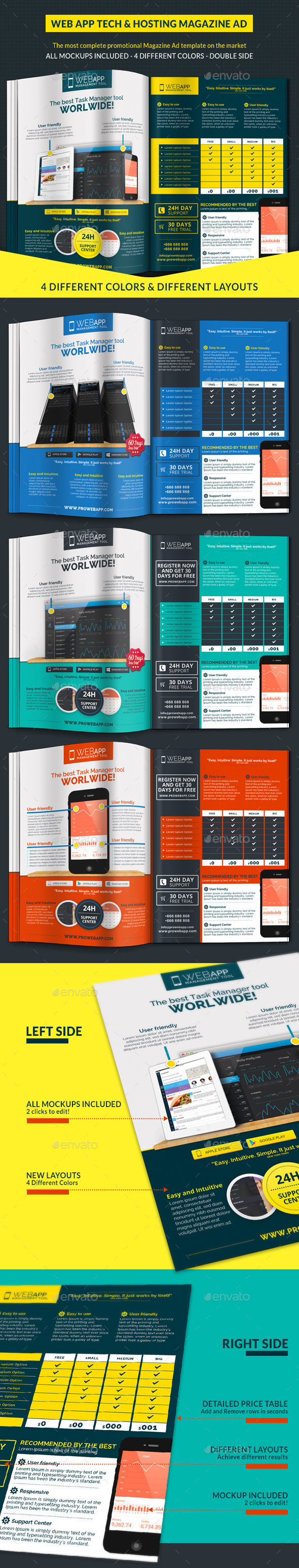 GraphicRiver Web App Tech & Hosting Magazine Ad 10372596