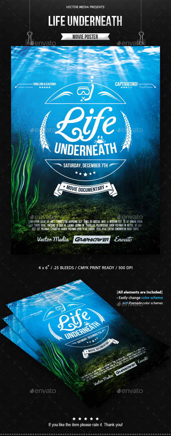 GraphicRiver Life Underneath Movie Poster 10372720