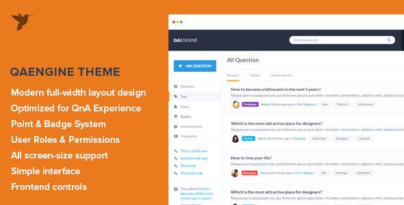 QAEngine - Question and Answer WordPress Theme - Miscellaneous WordPress