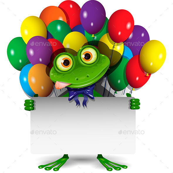 GraphicRiver Frog and Balloons 10373188