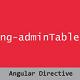 Angular Admin Table Directive - CodeCanyon Item for Sale